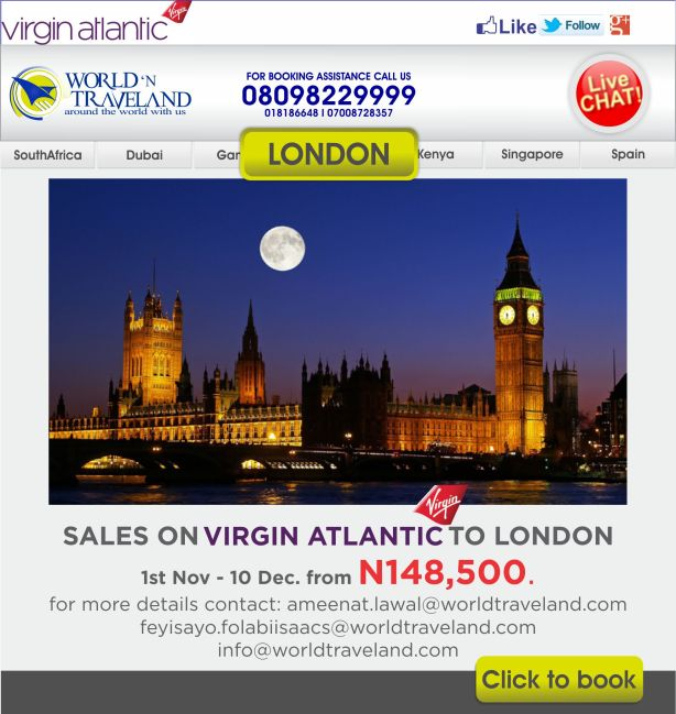CHEAP FLIGHT TICKET TO LONDON
