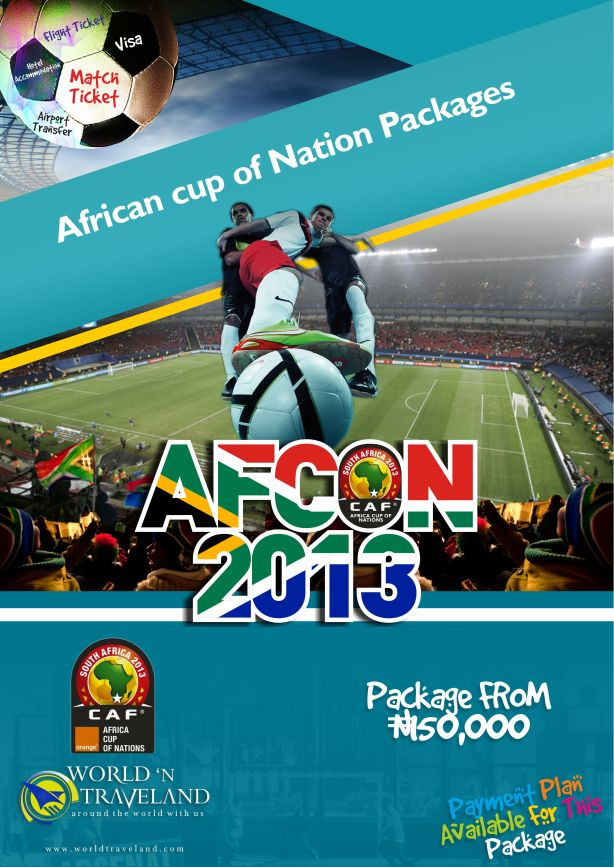 3 NIGHTS AFCON PACKAGE TO SOUTH AFRICA FOR JUST N150,000