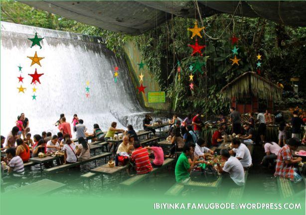 INSIDE THE WATERFALL RESTAURANT, PHILIPPINES