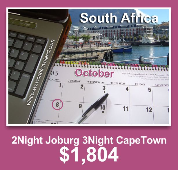 2-Night in Joburg 3-Nights in Capetown