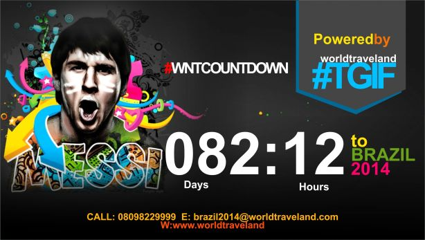 COUNTDOWN TO BRAZIL 2014 WORLD CUP