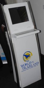 The new unique World 'N Traveland self-service travel kiosk unveiled at a press conference in Lagos.